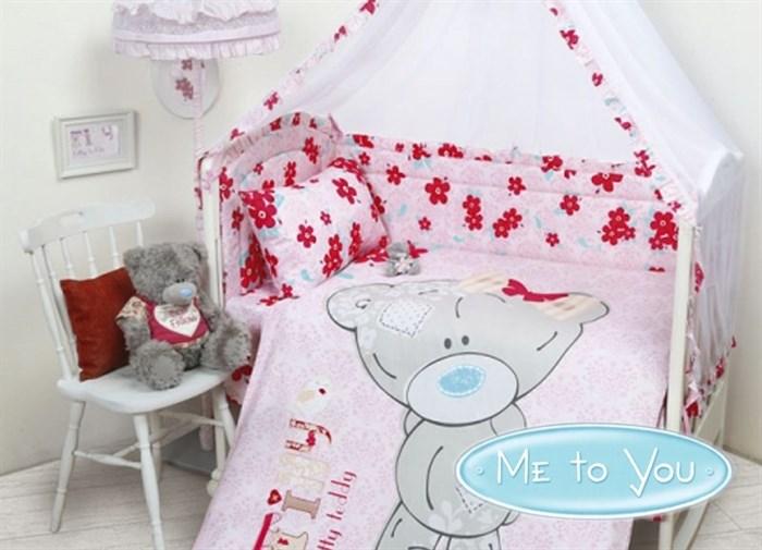 """КПБ """"Teddy Baby Girl"""" для новорожденных - фото 6532"""