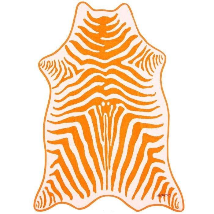 Полотенце махровое ЗЕБРА ОРАНЖЕВАЯ (коллекция Animal Skin) - фото 7715