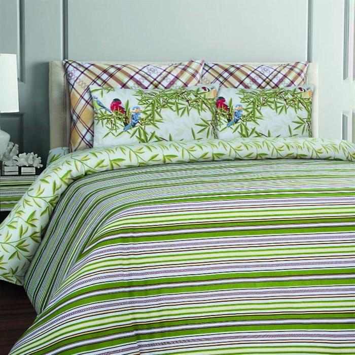 КПБ Stripe green (Коллекция Mona Liza Classic) - фото 7805