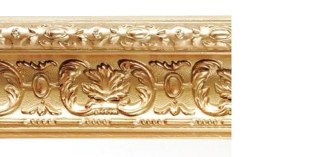 Карниз Эрмитаж багетный прямой золото античное