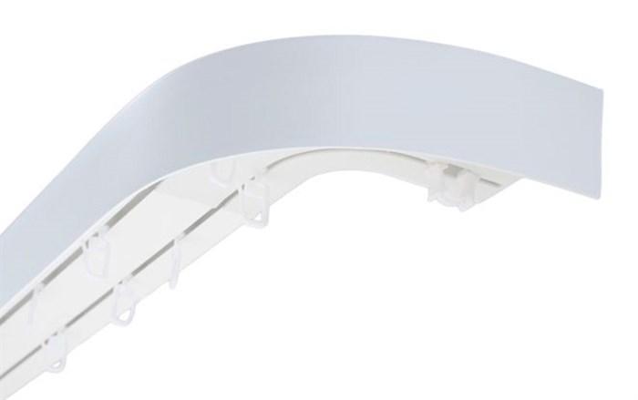 Карниз ПВХ усиленный МДФ 50 мм декоративная планка с угловыми загибами - фото 9006