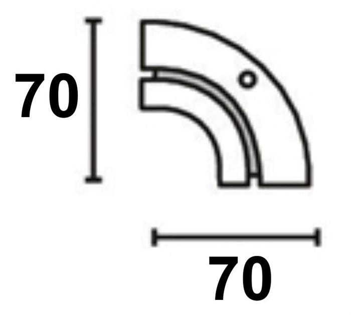 Поворотный соединитель внутренний однорядной шины Moller - фото 9092