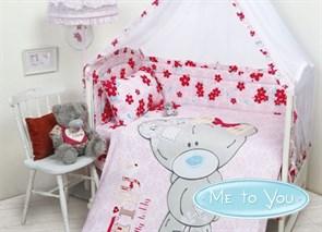 """КПБ """"Teddy Baby Girl"""" для новорожденных"""