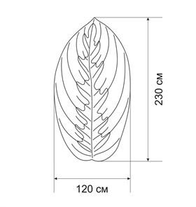 Плед-коврик МАРАНТА 120х230 см/ Коллекция SOFT