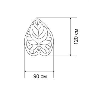 Плед-коврик АНТУРИУМ 90х120 см/ Коллекция SOFT