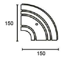 Поворотный соединитель внешний для трехрядной шины Moller
