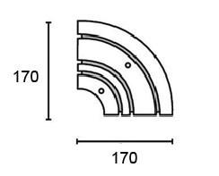 Поворотный соединитель внутренний трехрядной шины Moller