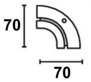 Поворотный соединитель внутренний однорядной шины Moller