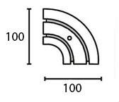 Поворотный соединитель внутренний двухрядной шины Moller