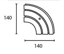 Поворотный соединитель внешний двухрядной шины Moller