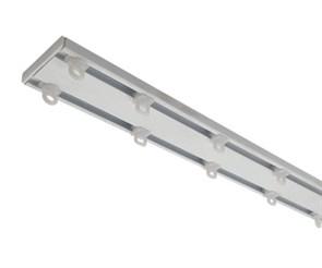 Профильный двухрядный карниз СТ-4009 для легких и средних штор